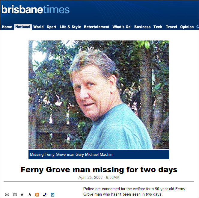 Photo Murray stole from the Internet of a man from Brisbane, Australia
