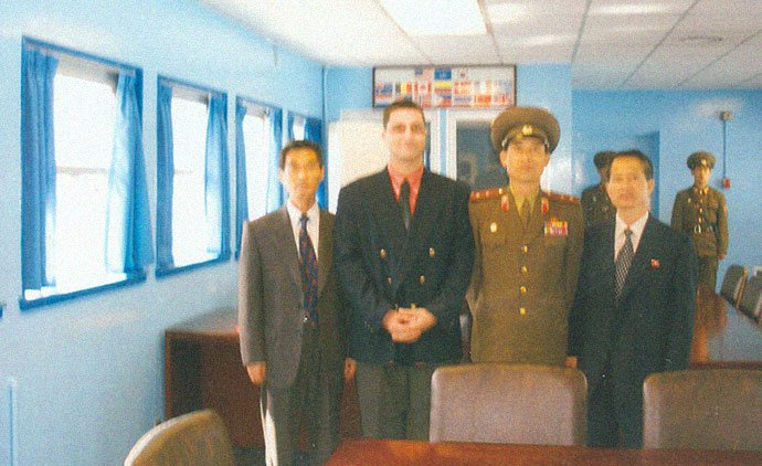 John Paul Cupp in North Korea as a guest the regime