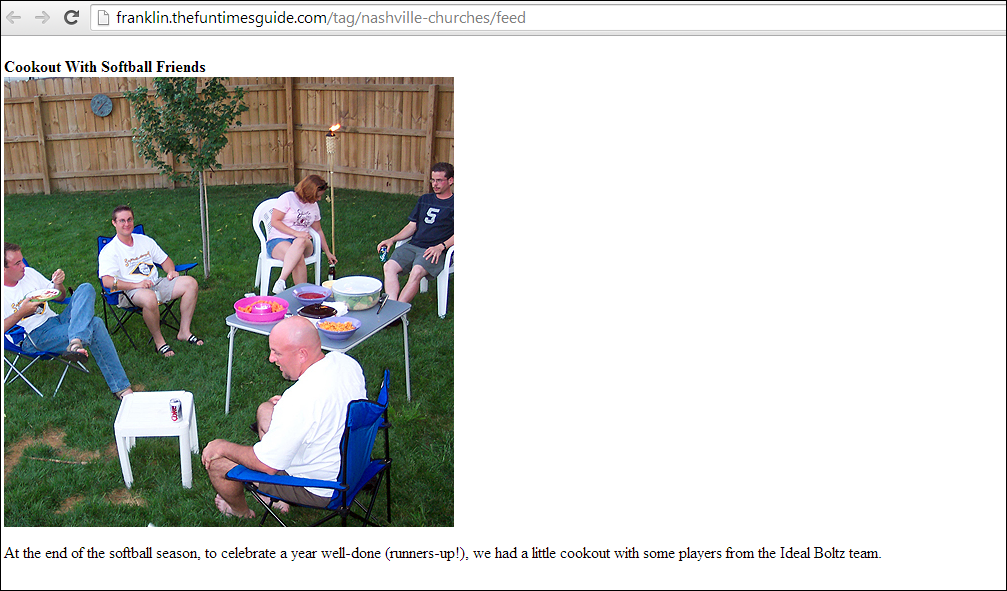 The original true photo of man attending a cookout with no connection to the KKK