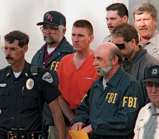 Timothy McVeigh after his arrest for the Oklahoma City bombing in 1995