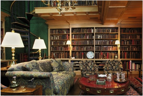 Robert Pirie's library at his home on west 9th street, New York City