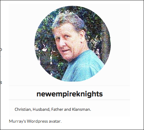 Photo Murray posted of himself on the internet